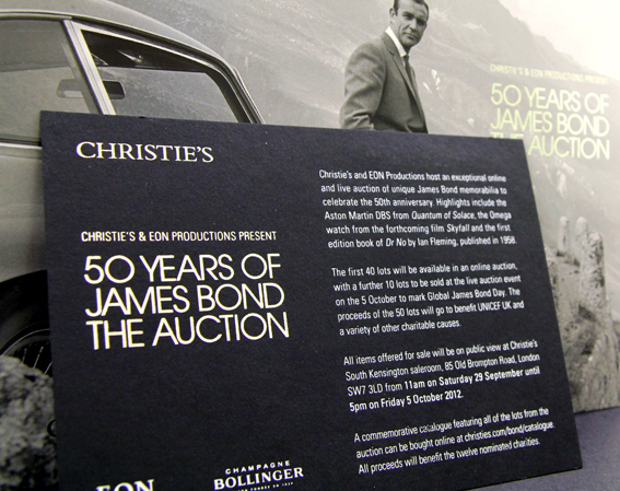 a5460fbc5f Christie's (50 Years of James Bond Auction)